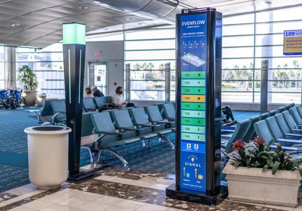 מערכת ניטור קהל בשדה התעופה באורלנדו